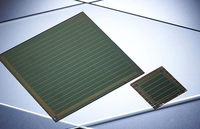 Zellen fast ohne Verluste zu Modulen zu verschalten, gelingt mit einer innovativen Kombination von Verfahren. Foto: Amadeus Bramsiepe, KIT